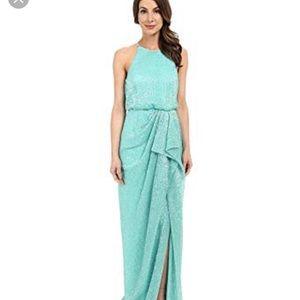 Green sequined Badgely Mischa gown